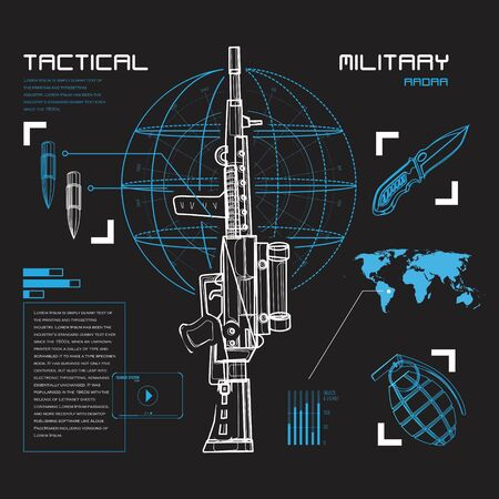 Radar military tactical style Ilustrace