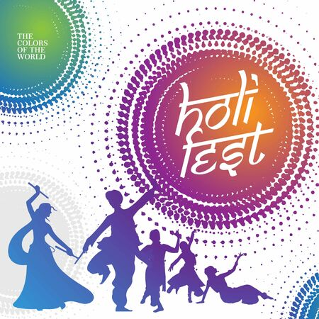 holy festival theme graphic circular