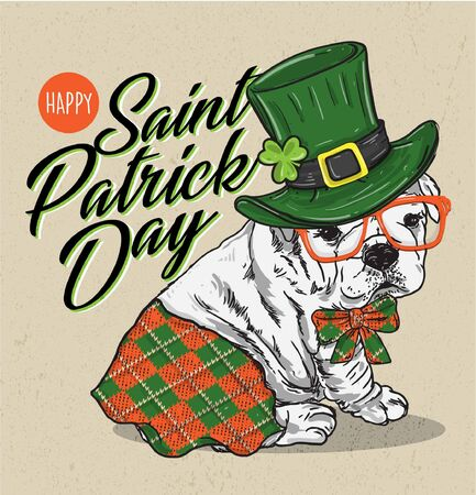 puppy dog irish celebrate saint patrick day