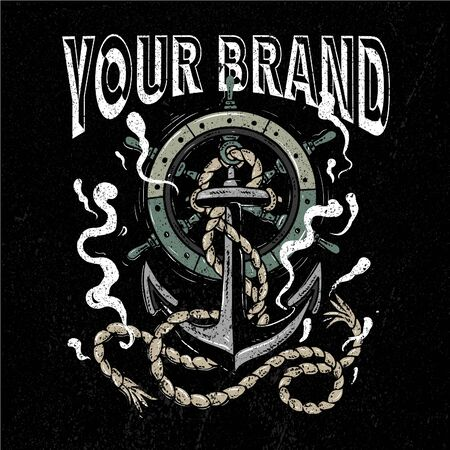 the grunge anchor illustration for brand