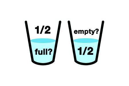 lleno: Icono de vidrio de optimista  Vectores