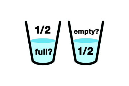 half full: Optimist glass icon