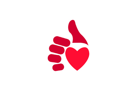 Thumbs up heart icon Stock Vector - 7399570