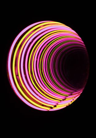 rende: a closeup of abstract neon tube light tunnel