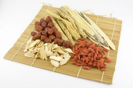 Traditional Chinese Medicine - An assortment of chinese herbs