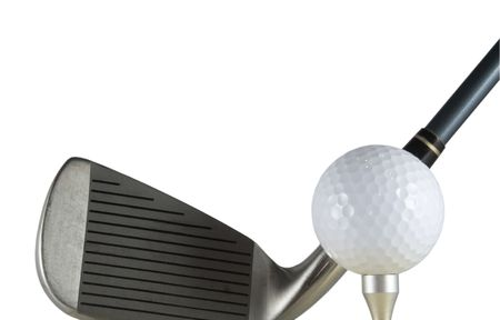 Golf club and a golf ball isolated Stock Photo - 506048