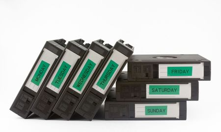 secure backup: Computer backup tapes for data recovery