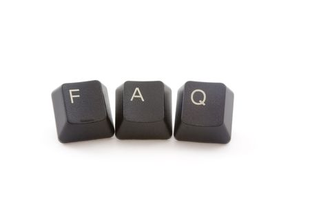 FAQ formed by keys of a computer keyboard photo