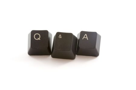 formed: Q&A formed by keys of a computer keyboard