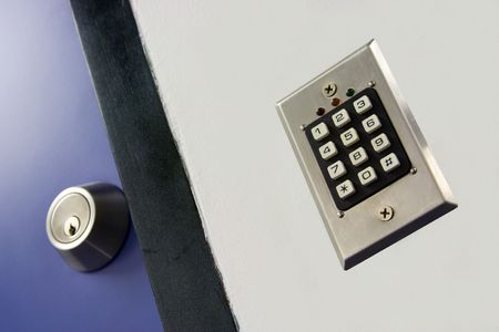 access: Keypad for access control Stock Photo