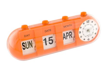taxpayers: Clock showing 15th April, Tax Day in the United States Stock Photo