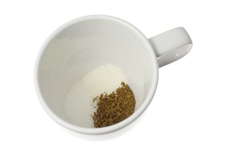 creamer: Mixture of coffee powder, sugar and creamer in a cup