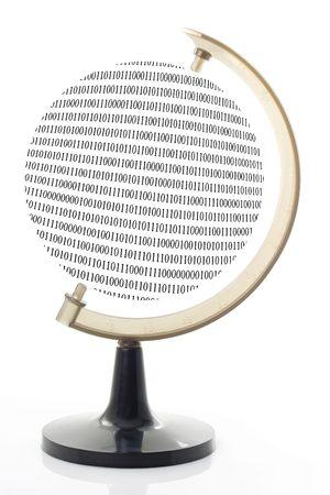 World made up of binary code isolated on white background Stock Photo - 943087
