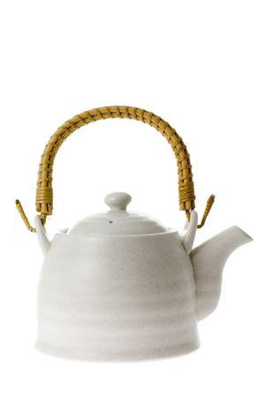 chinese tea pot: Olla de t� chino aislados en fondo blanco