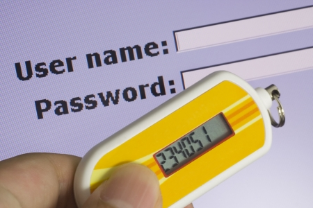 Screen requesting password and security token depicting Two Factor Authentication