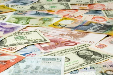 euro notes: Currency notes of various countries