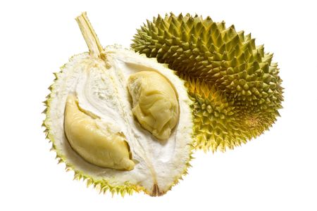 Tropical fruit - Durian isolated on white background