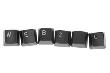 WEB 2.0 formed by keys of a computer keyboard Stock Photo - 1397683