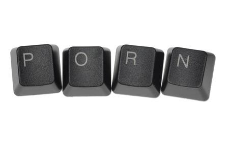 porno: PORN formata da tasti della tastiera di un computer  Archivio Fotografico