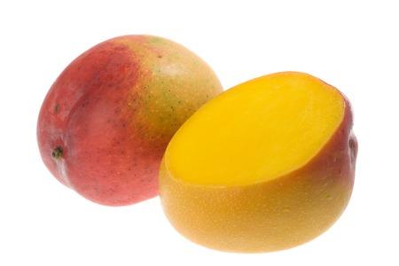 mango isolated: Tropical fruit - Mango isolated on white background