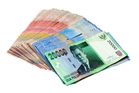 Indonesian Rupiah isolated on white background