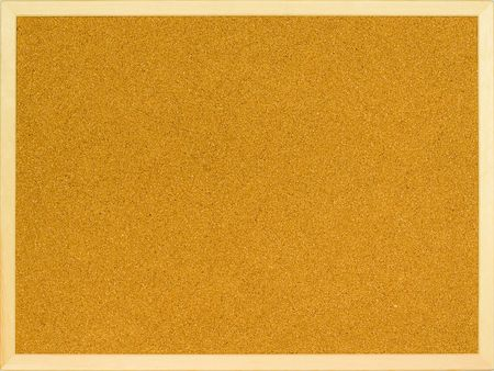 annoucement: Plain cork board with a wooden frame