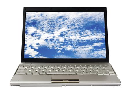 Front view of a laptop isolated on white background Stock Photo - 3661608