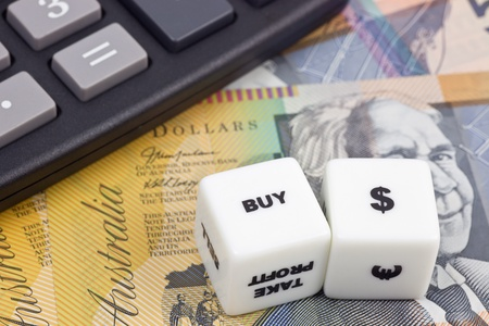 Australian currency with calculator and dice Stock Photo - 8274033