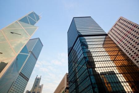 central: Rascacielos del Distrito Central de Hong Kong