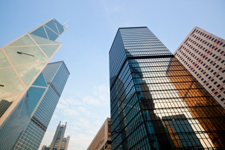 Skyscrapers in Hong Kong Central district