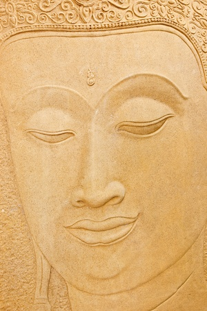 stone carving: Stone carving of Buddha