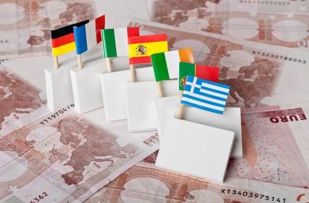 schuld: Griekse schuldencrisis waarvan een domino-effect op andere Euro-landen Stockfoto