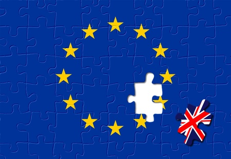 european integration: Jigsaw puzzle showing United Kingdom is a part of the European Union