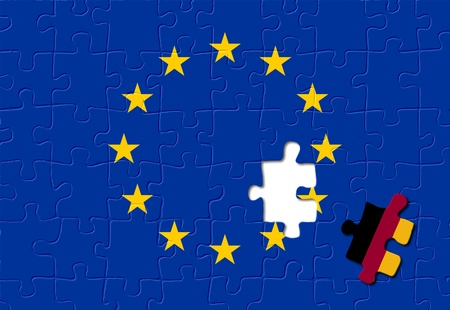 eurozone: Jigsaw puzzle showing Germany is a part of the European Union