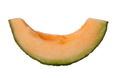 musk: Slice of rockmelon isolated on white background