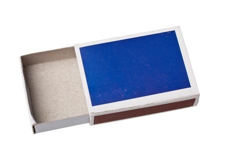 firestarter: Empty matchbox isolated on white background