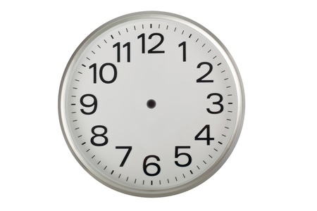 Clock face without the hands isolated on white background photo
