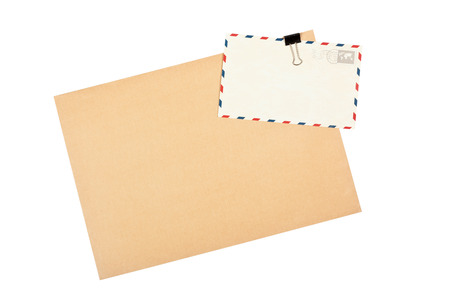 post cards: Blank envelope and post cards isolated on white background