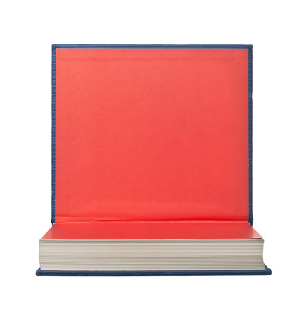 hardback: Hardback book with its cover flipped up isolated on white background