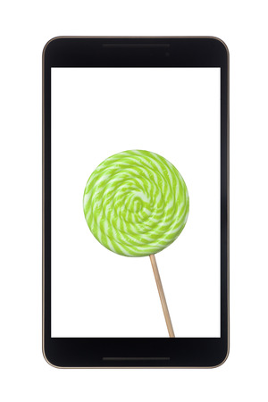 android tablet: Android tablet with lollipop isolated on white background
