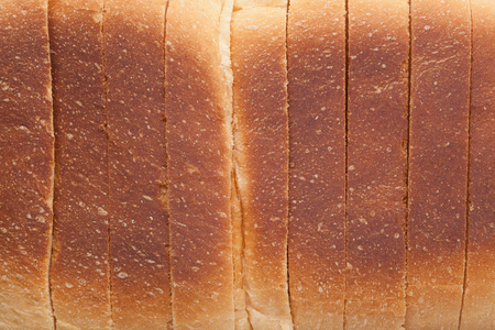 crust: Closeup of the crust of a loaf of sliced bread Stock Photo
