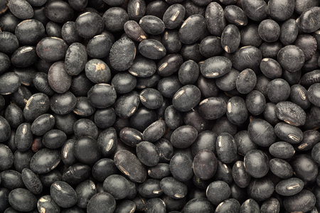 turtle bean: Closeup of lots of Black turtle beans Stock Photo