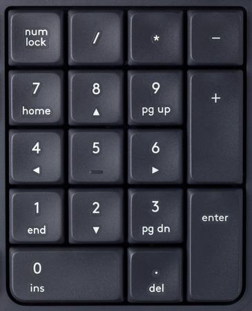 teclado num�rico: Primer plano de las teclas de un teclado num�rico