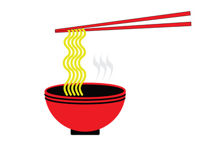 Asian noodles icon Illustration