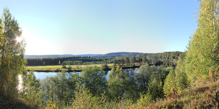 Panoramic view on a river, Sweden   photo