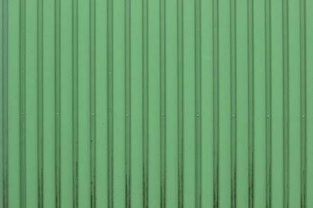 architectural feature:   Green plastic metal sheet texture