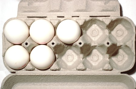 muscle formation:   Five eggs in a package, half filled