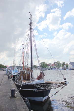 greifswald:   Sailing ships in Wieck Greifswald, Mecklenburg-Vorpommern, Germany