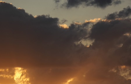 Cloudscape and blue sky at sunset. photo