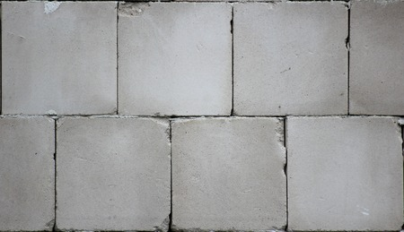 image created 21st century:   Wall made from concrete blocks usable as background or texture. Stock Photo
